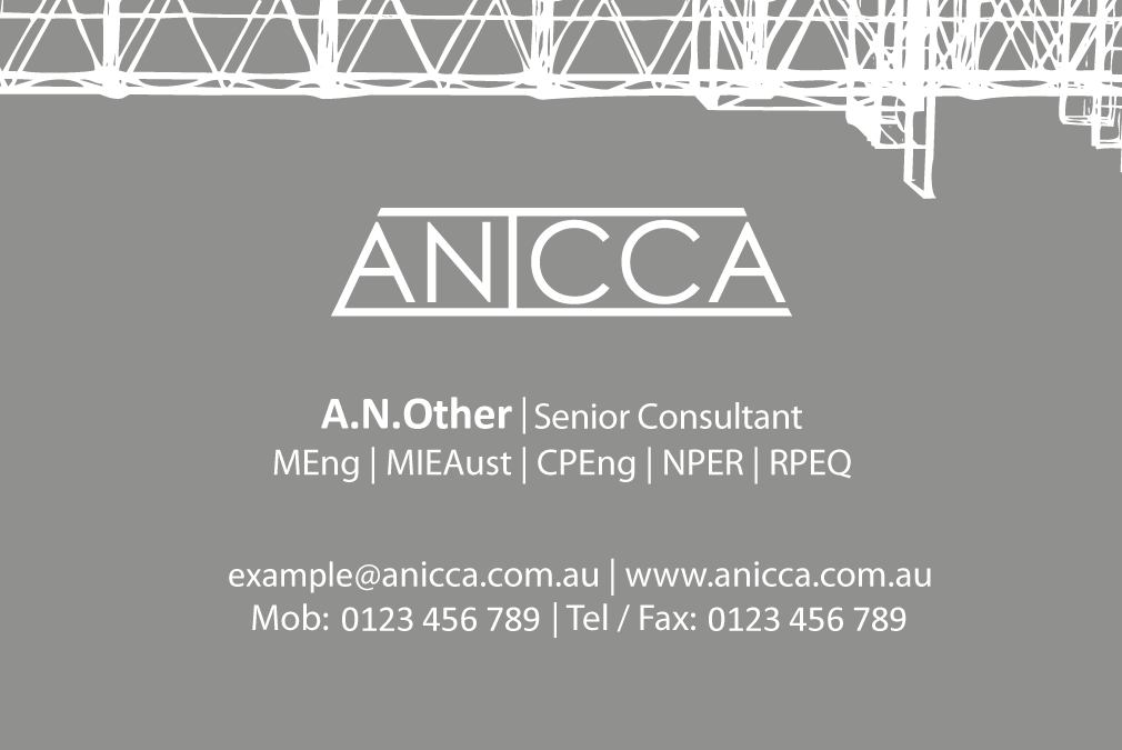 Anicca Business Card Front