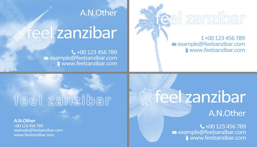 Feel Zanzibar Business Card Look and Feels