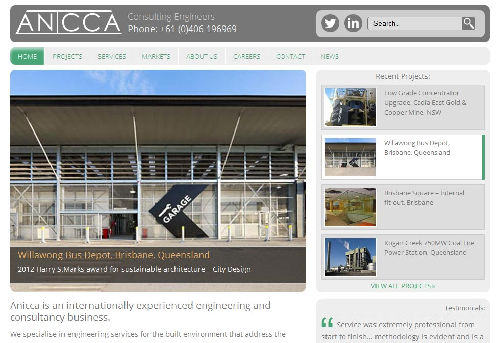 Anicca Engineering Home Page