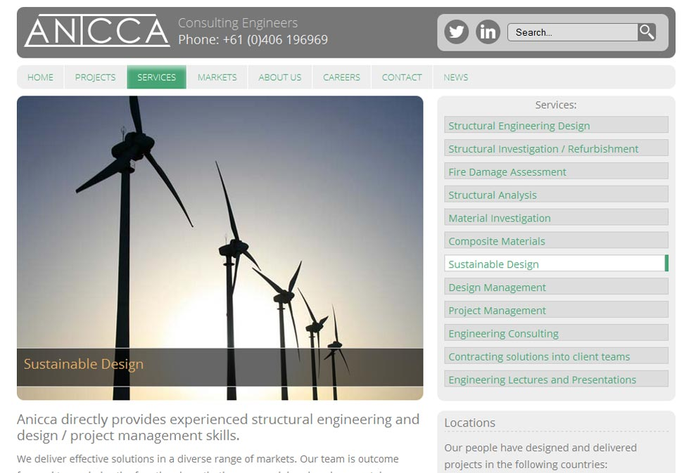 Anicca Engineering Services Page
