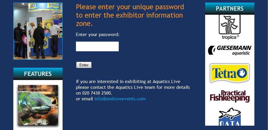 Aquatics Live Exhibitor Zone Page