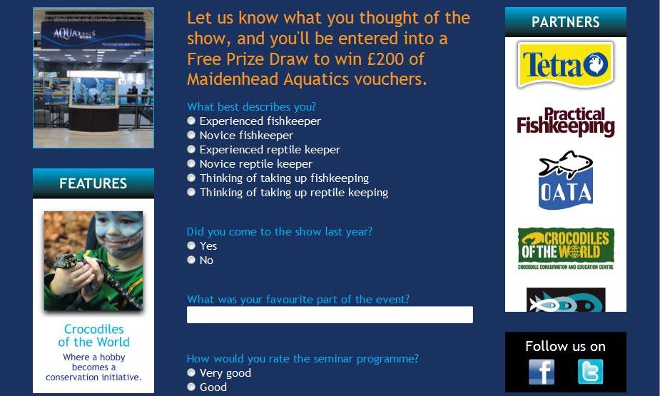 Aquatics Live Feedback Page