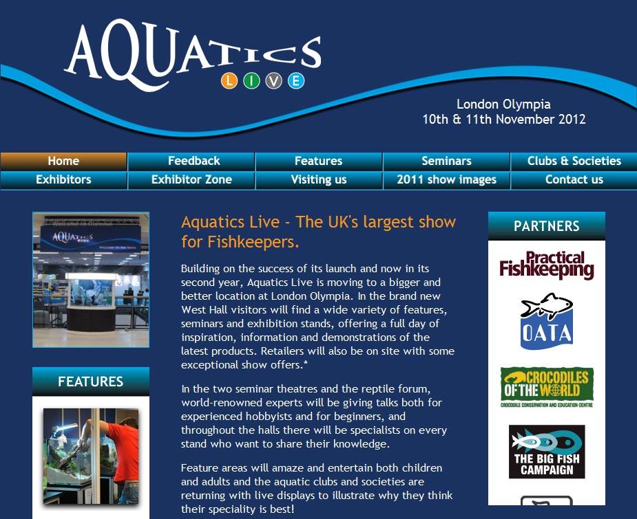 Aquatics Live Home Page