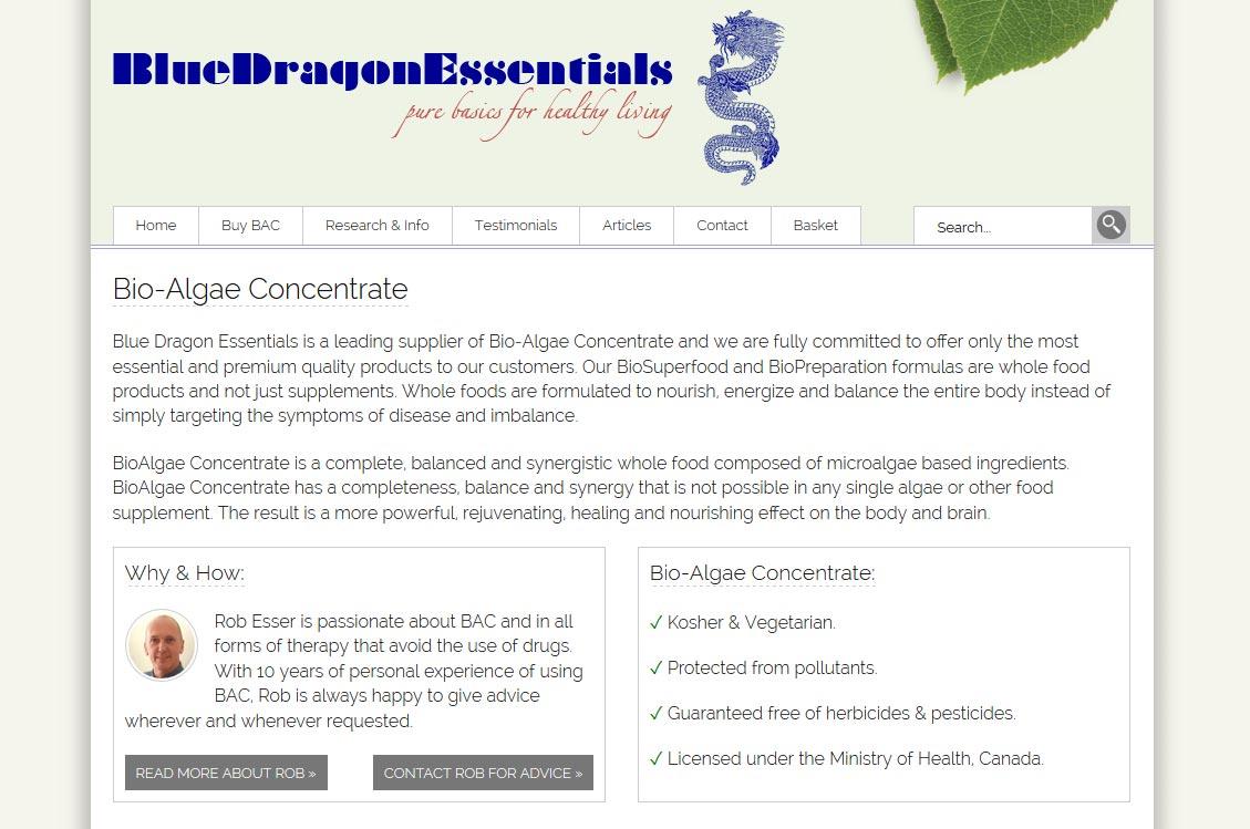 Blue Dragon Essentials Home Page