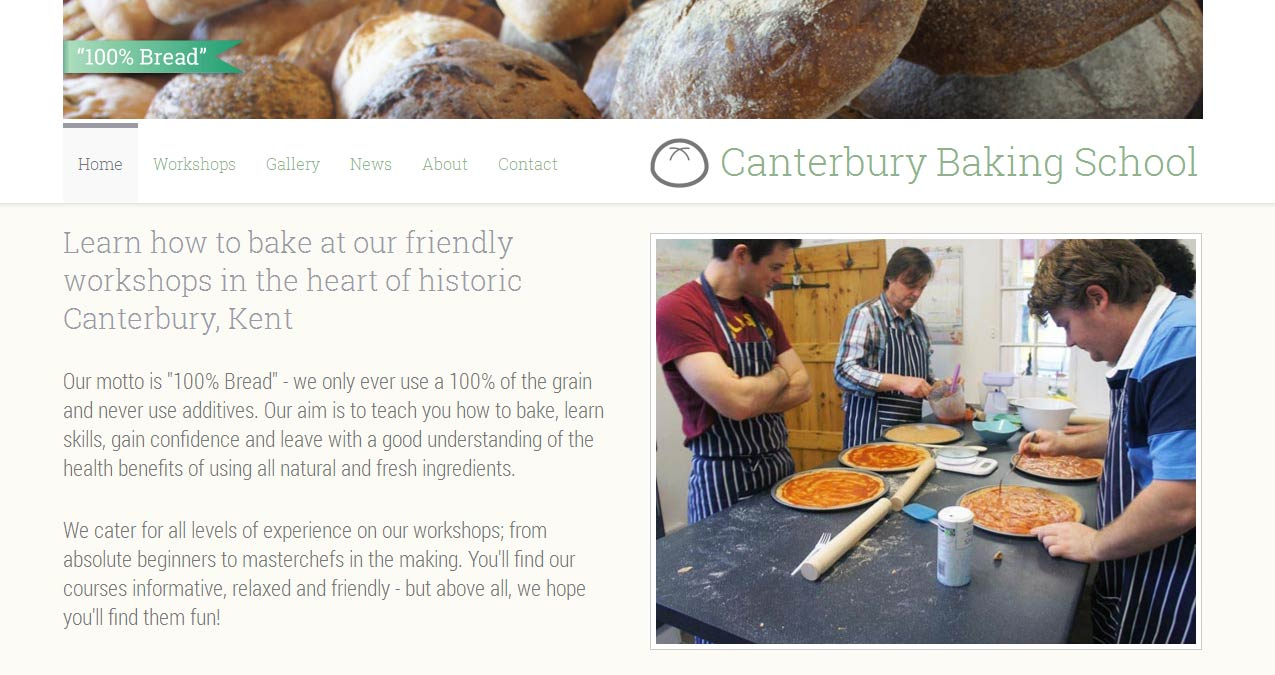 Canterbury Baking School Home Page