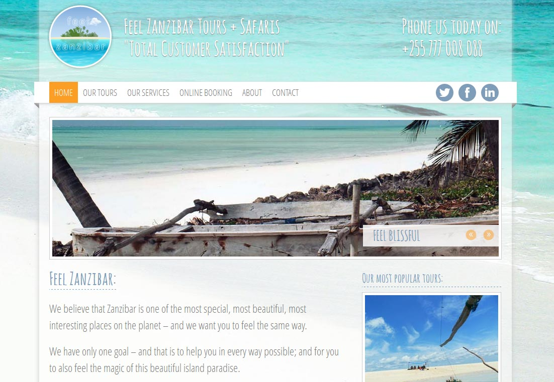 Feel Zanzibar Homepage