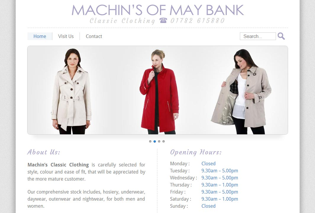 Machins of May Bank Home Page