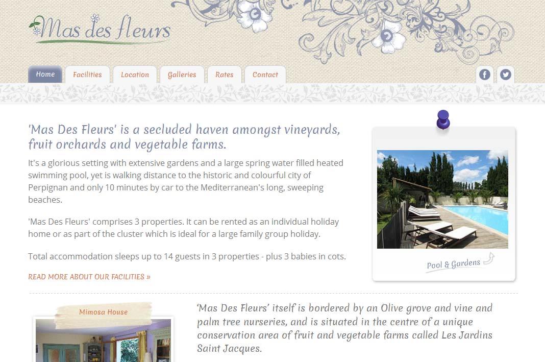 Mas Des Fleurs Home Page