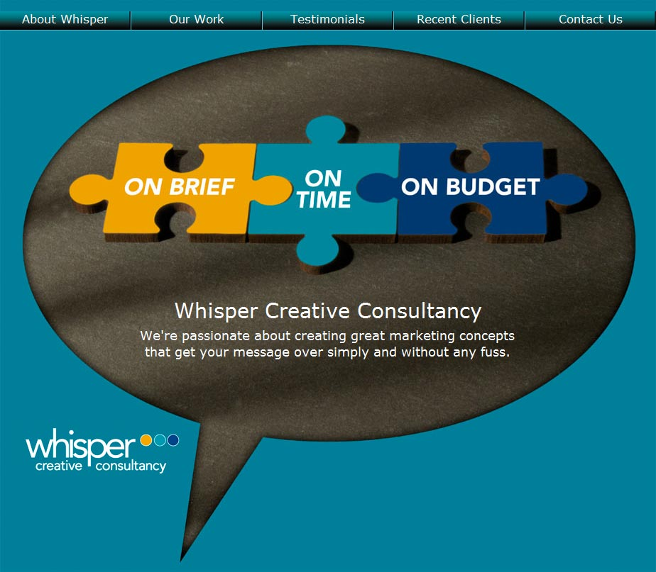 Whisper Creative Consultancy Home Page